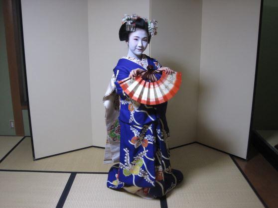 舞妓さんの京舞鑑賞