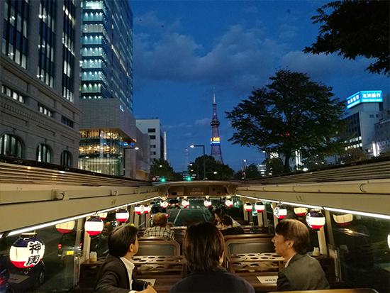 道央エリアの観光スポットをめぐるレストランバス北海道in札幌!