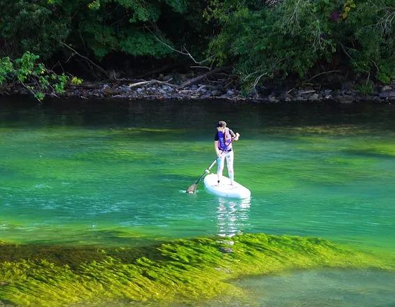 千歳川源流グリーンでSUP体験1.5km(半日)