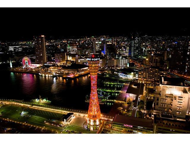 夜の景色が見せる神戸の街を堪能。