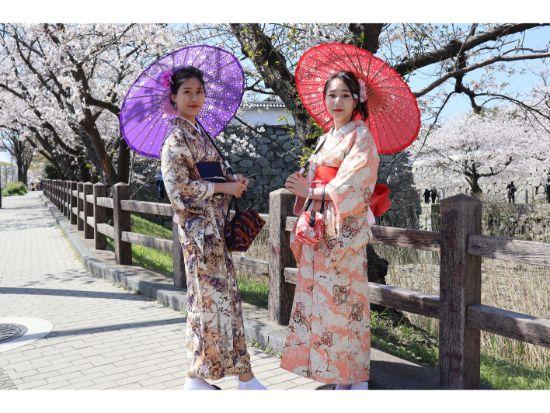 日本庭園のある大濠公園まで徒歩2分!可愛い着物で優雅に福岡観光 !福岡着物レンタル