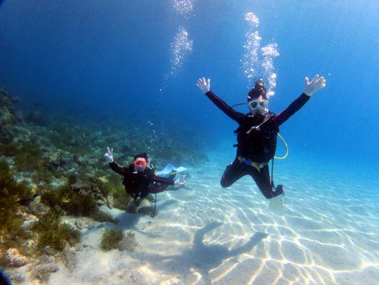 世界遺産の屋久島の海で楽しい体験ダイビング
