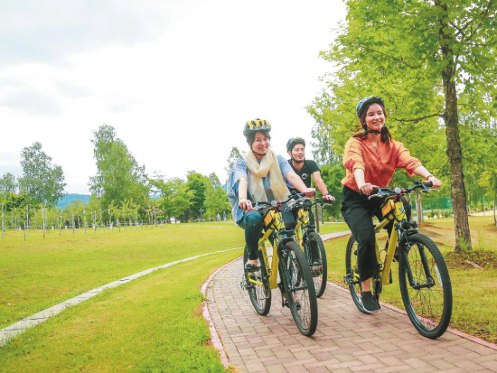 Cycling tour with guide to Sorachi nature and history of coal mine