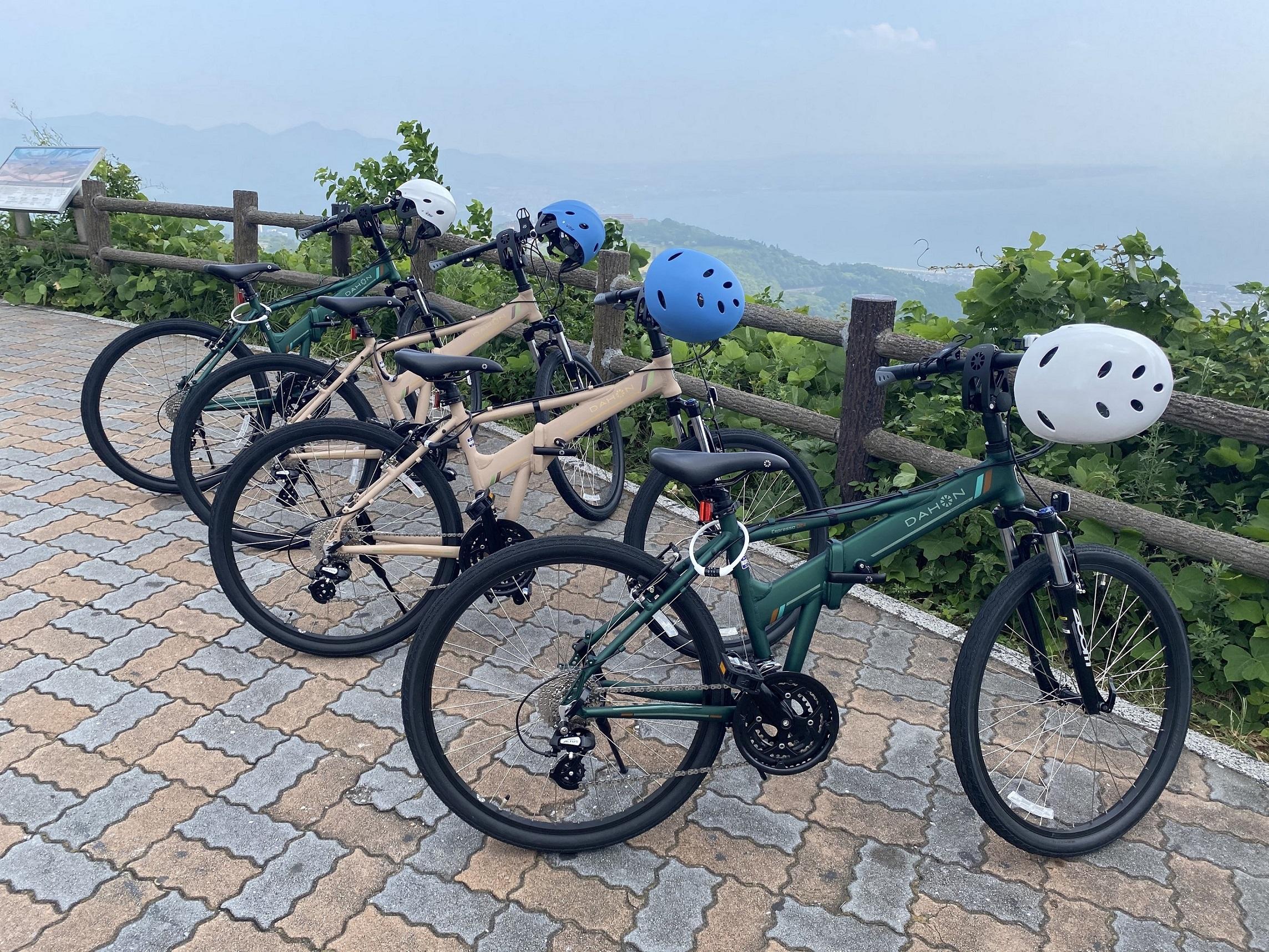 自転車は初心者にも乗りやすいDAHON社のEspressoD24というマウンテンバイクです。