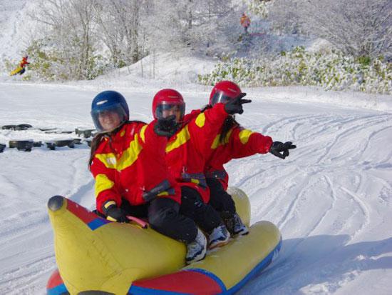 【冬季】富良野 スノーバナナボート【5kmコース】