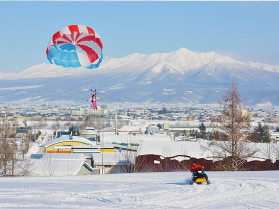 【冬季】富良野 パラセーリング